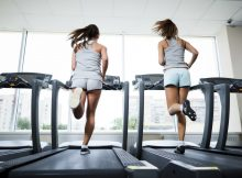 Running at the fitness club